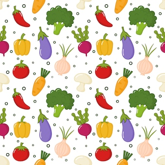 Seamless pattern vegetable