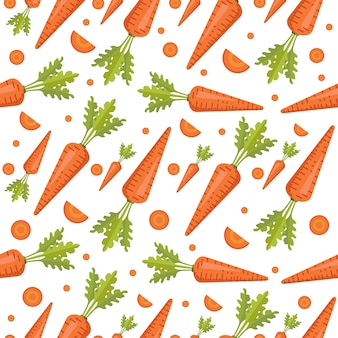 Seamless pattern vegetables carrot