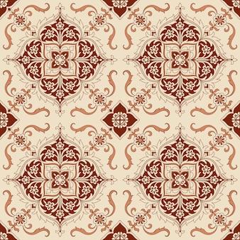 シームレスパターン-ベクトルのビクトリア朝のタイル