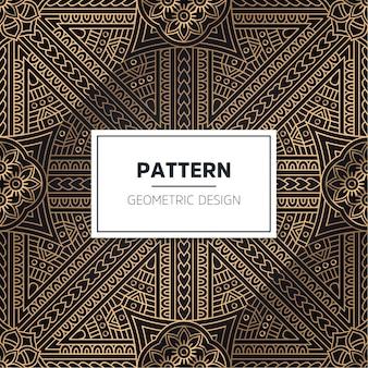 シームレスパターン。ヴィンテージの装飾的な要素。手描きの背景 Premiumベクター