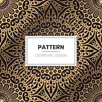 완벽 한 패턴입니다. 빈티지 장식 요소. 손으로 그린 된 배경 프리미엄 벡터
