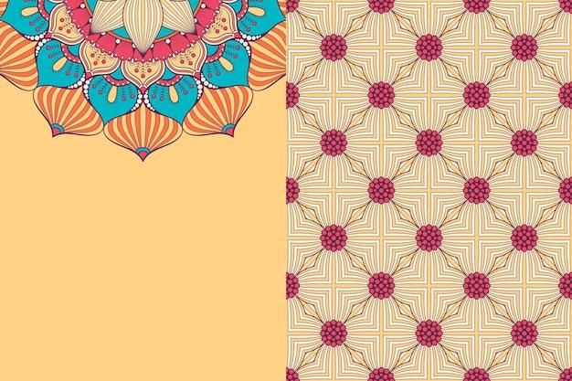 원활한 패턴입니다. 빈티지 장식 요소. 손으로 그린 된 배경