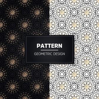 シームレスパターン。ヴィンテージの装飾的な要素。手描きの金色の装飾品。