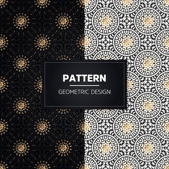 Seamless pattern. vintage decorative elements. hand drawn golden ornaments.