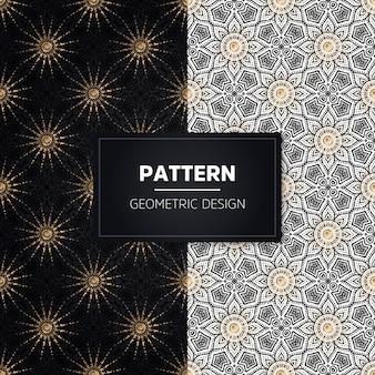 완벽 한 패턴입니다. 빈티지 장식 요소. 손으로 그린 황금 장식품.