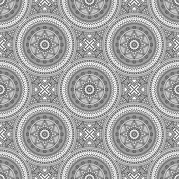 Seamless pattern. vintage decorative elements pattern