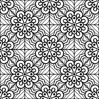 완벽 한 패턴입니다. 빈티지 장식 요소