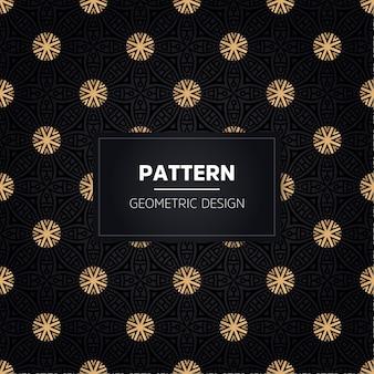 シームレスパターン。ヴィンテージ装飾ゴールデン装飾。