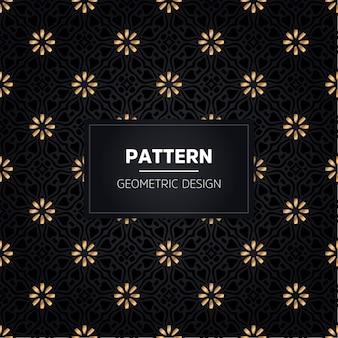Seamless pattern. ornamentale dorato decorativo dell'annata.