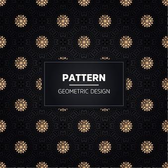 완벽 한 패턴입니다. 빈티지 장식 황금 장식.