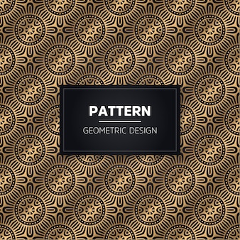 Seamless pattern. ornamentale dorato decorativo dell'annata.