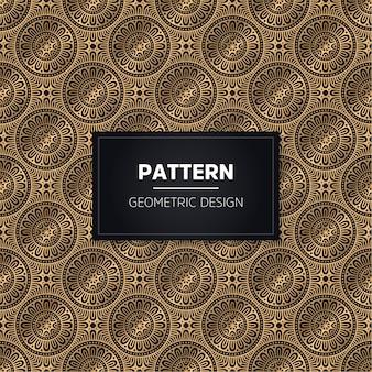 완벽 한 패턴입니다. 빈티지 장식 황금 장식. 무료 벡터