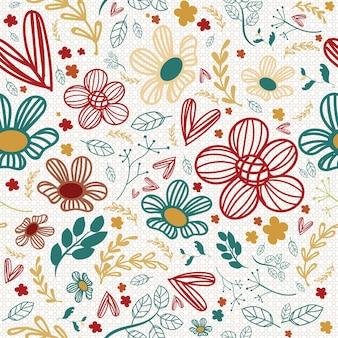 Seamless pattern vintage floral.