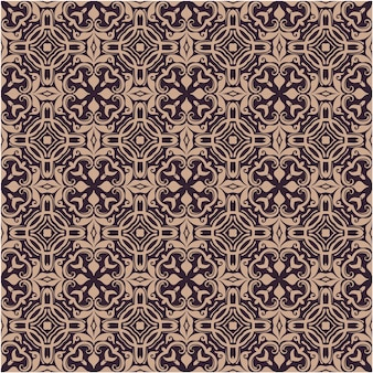 Seamless pattern vintage ornament, baroque flowers and old style