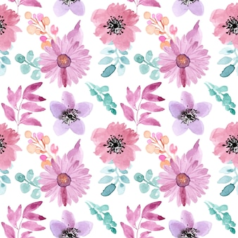 Seamless pattern watercolor floral