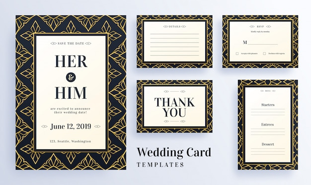 Seamless pattern wedding template