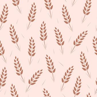 Seamless pattern of wheat ears.