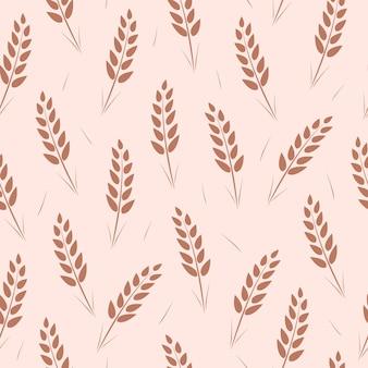 Seamless pattern of wheat ears.