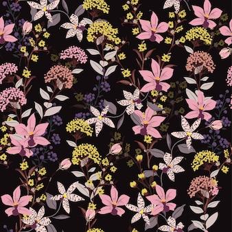 Seamless Pattern wild flowers
