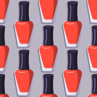빨간 매니큐어 병으로 완벽 한 패턴입니다.