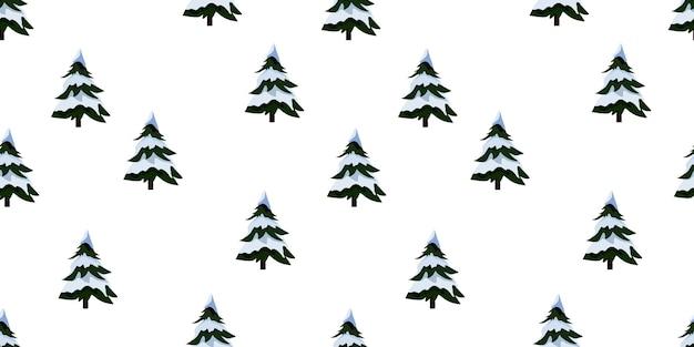 크리스마스 트리와 함께 완벽 한 패턴입니다. 벡터 만화 일러스트 레이 션