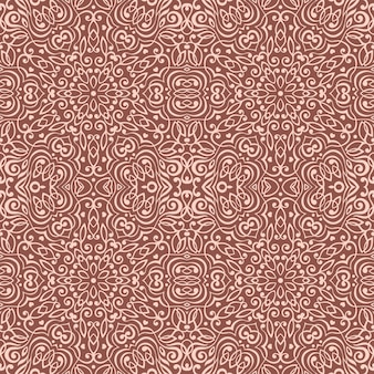 Seamless pattern with abstract ethnic decoration