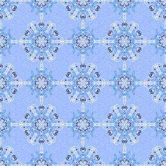 Seamless pattern with abstract ethnic decoration.