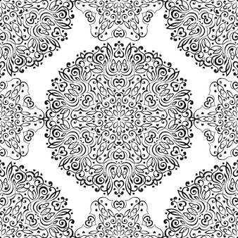Seamless pattern with abstract ethnic ornaments.