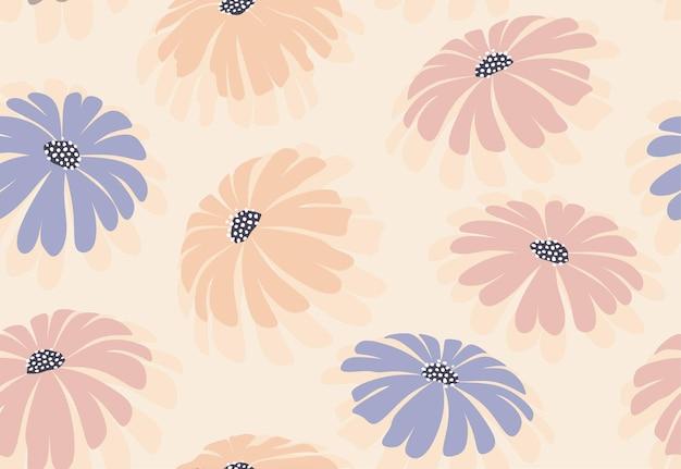 추상 꽃과 잎으로 완벽 한 패턴