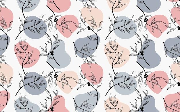 抽象的な花とシームレスなパターンを残します