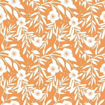 추상적 인 꽃과 잎으로 완벽 한 패턴