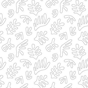 抽象的な手描きの形とシームレスなパターン