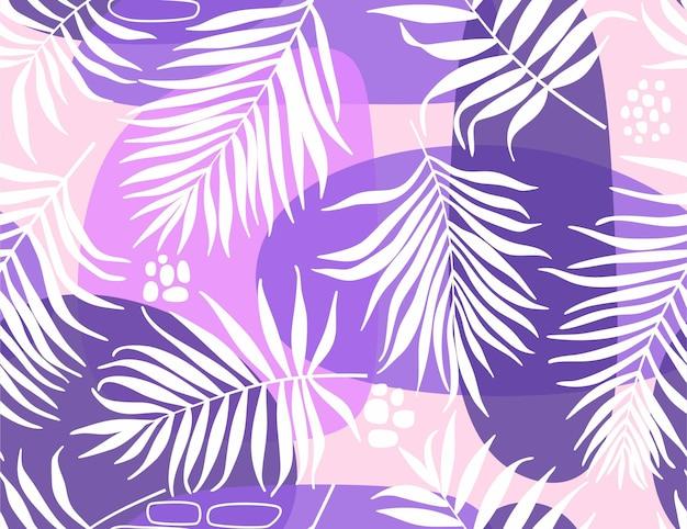 抽象的な葉とのシームレスなパターン。