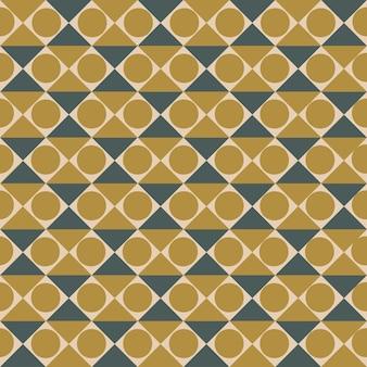 Бесшовный фон с абстрактными формами квадратов и кругов