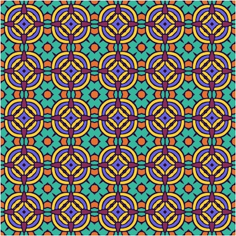 Seamless pattern with abstract style