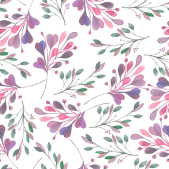 Seamless pattern with abstract watercolor branches