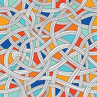 抽象的な波とのシームレスなパターン