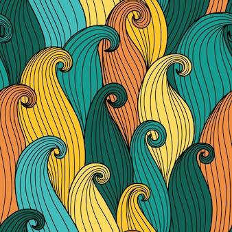 추상 파도 함께 완벽 한 패턴
