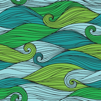 Seamless pattern with abstract waves