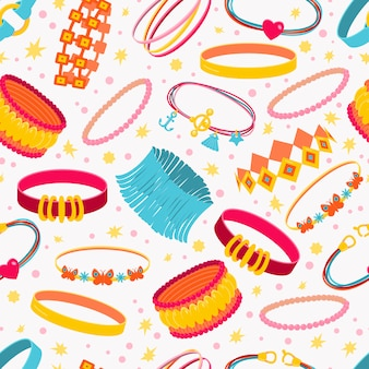 Seamless pattern with accessories