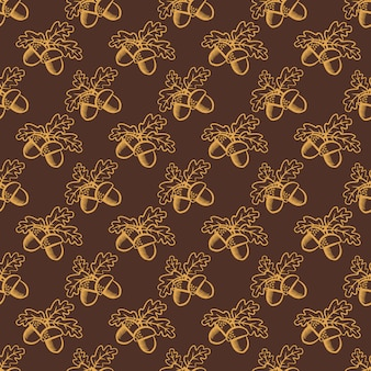 Seamless pattern with acorns.