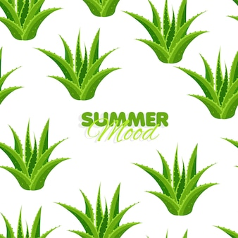 알로에와 함께 완벽 한 패턴 여름 분위기 나뭇잎