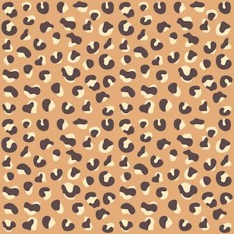 Бесшовный фон с текстурой кожи животных леопард гепард ягуар