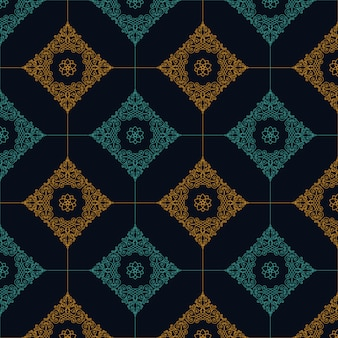 Seamless pattern with art ornament for design