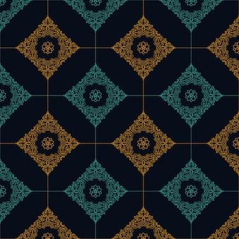 デザインのアート飾りとのシームレスなパターン