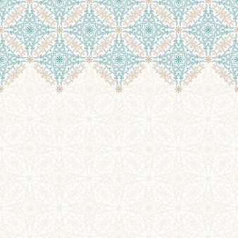 アート飾りとのシームレスなパターン