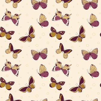 Seamless pattern with arthropod animals