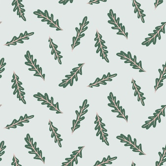Seamless pattern with arugula.