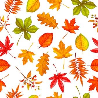 Бесшовный фон с осенними листьями клена