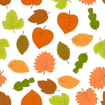紅葉とのシームレスなパターン。ベクトルイラスト。